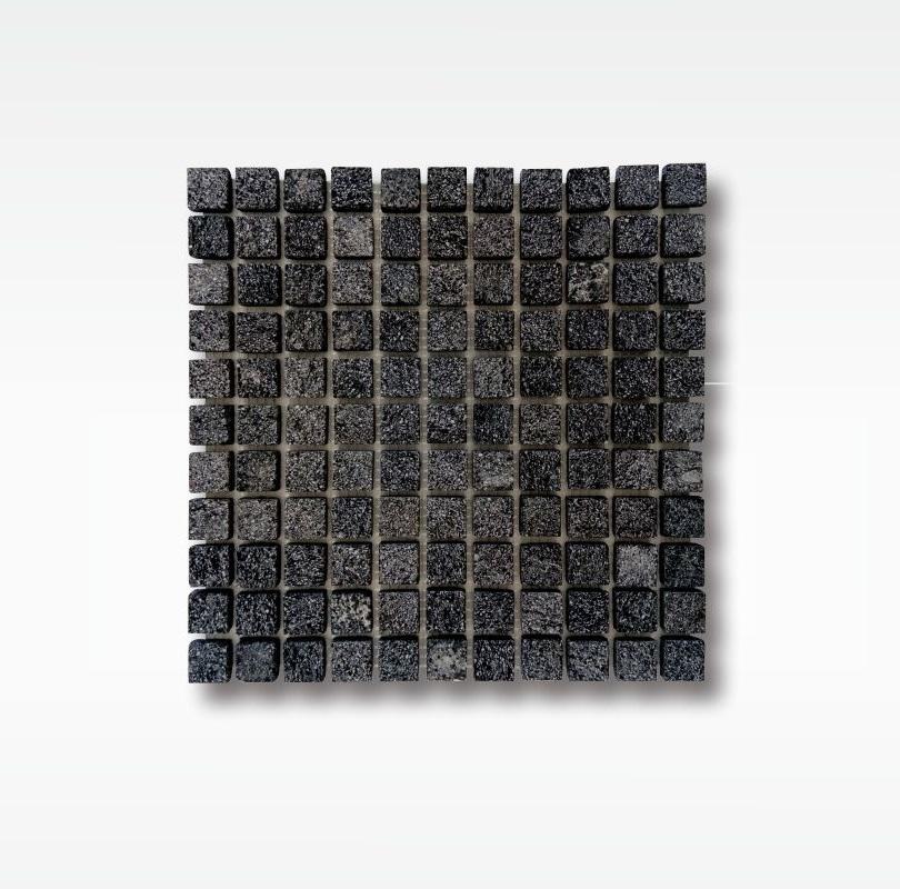 Mosaic Black Lavastone for Swimming Pool - 2 5x2 5cm - Dry