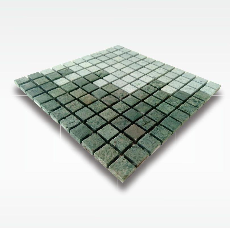 Green Sukabumi Stone Mosaic Pool Tile - Quartzite - 2 5x2 5cm - Wet
