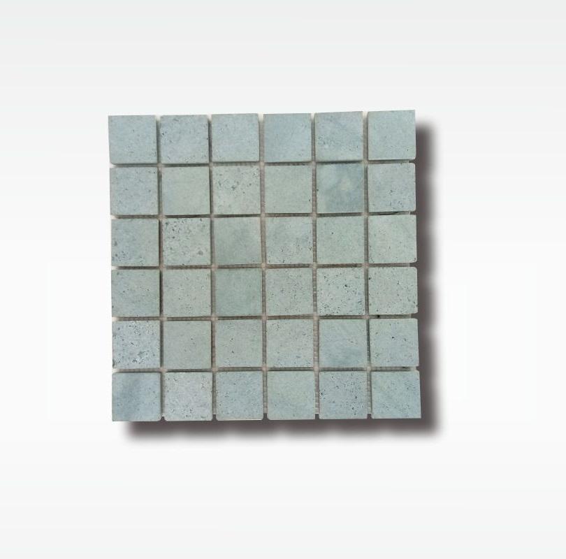 Mosaic Sukabumi Green Stone Tile - Quartzite - 5x5cm - Dry