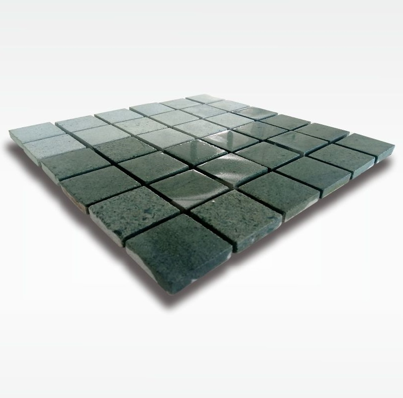 Green Stone Sukabumi Mosaic - Quartzite - 5x5cm - Wet