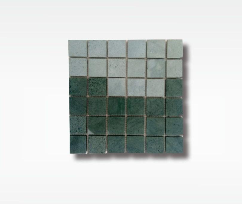 Mosaic Green Stone Sukabumi - Quartzite - 5x5cm - Wet
