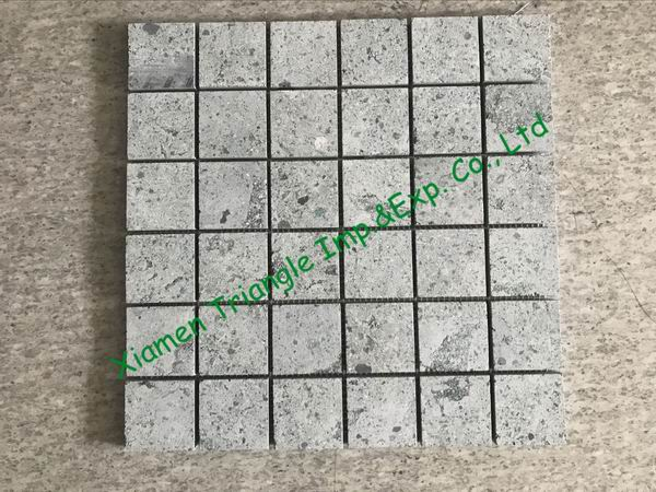 China Green Sukabumi Stone Granite Sawn Mosaic Square Tiles