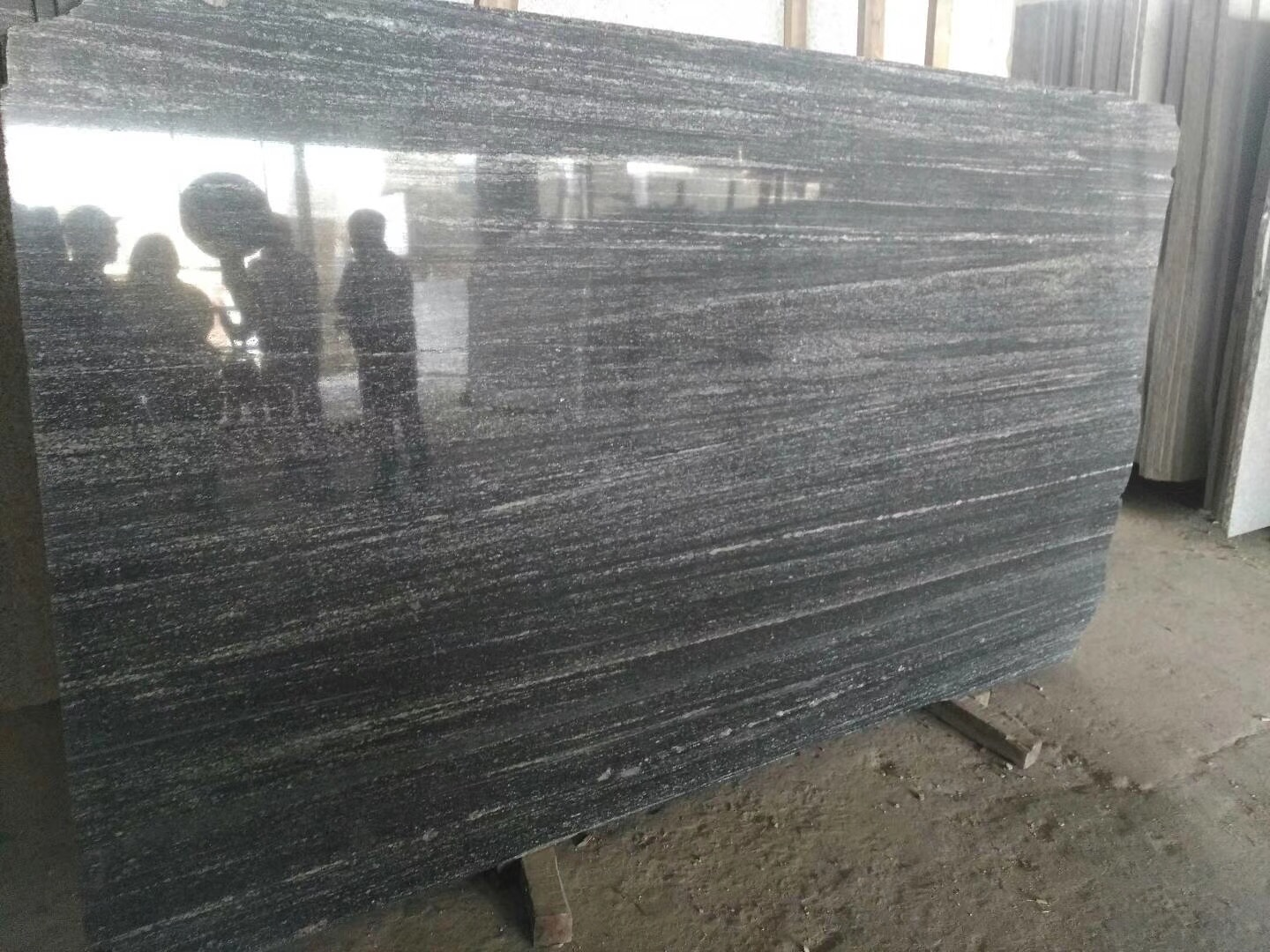 Nero Santiago Slab Polished Grey Granite Slabs