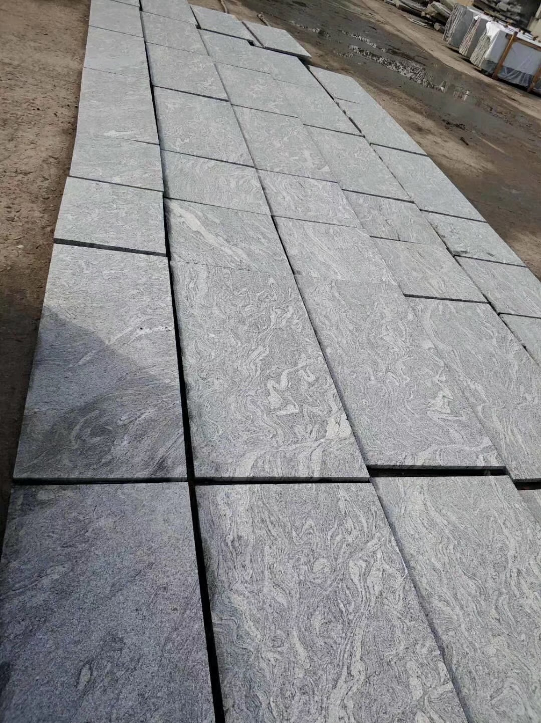 Mountain White Granite Tiles for Mexico