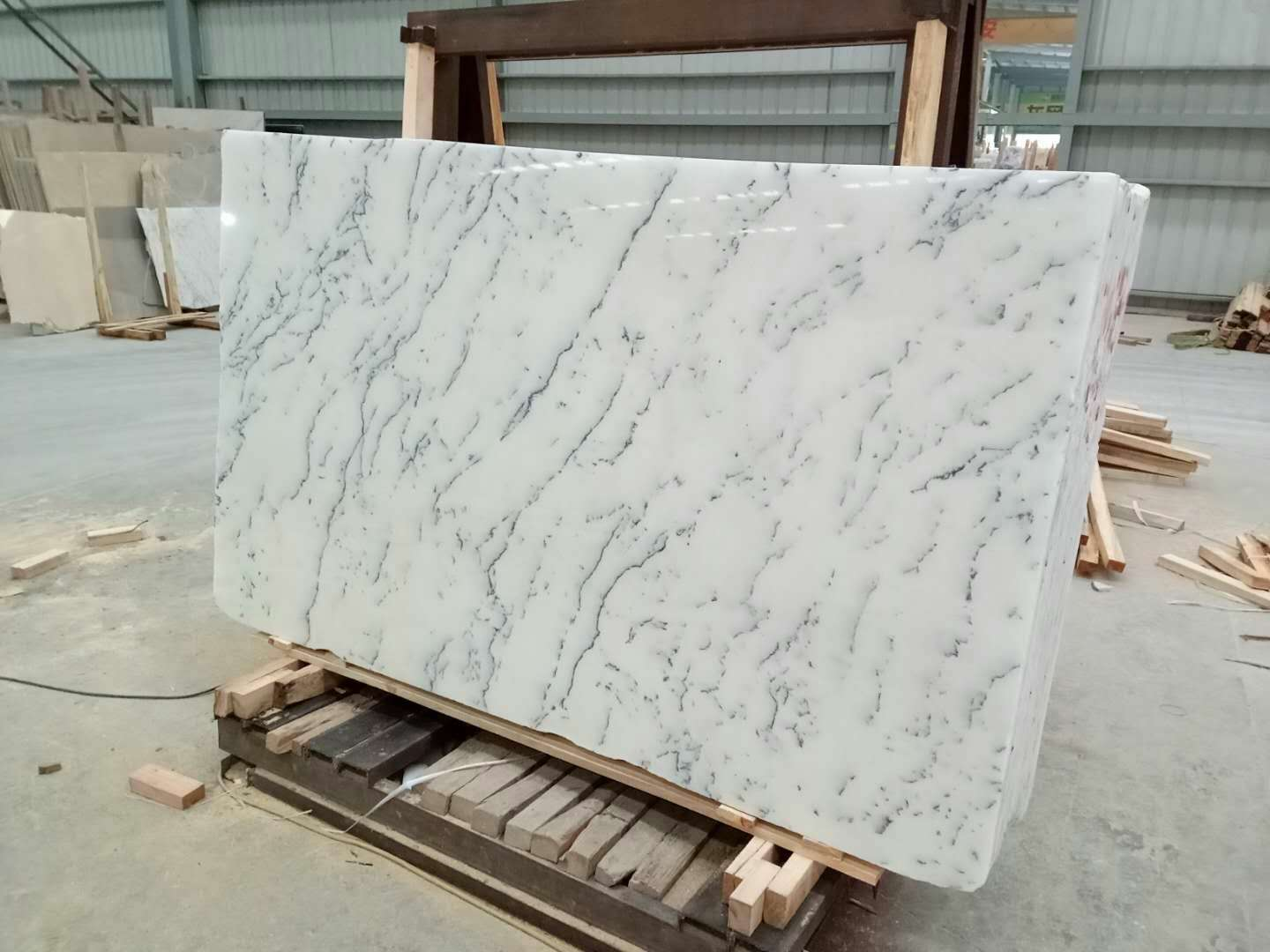 Mugla White Marble big slab   White marble big slab