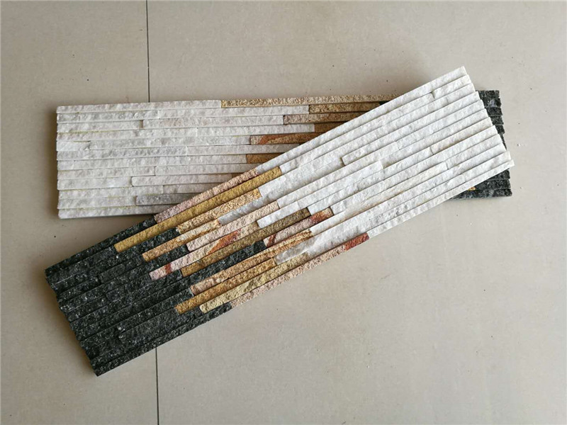 Multicolor quartzite culture wall stone panels