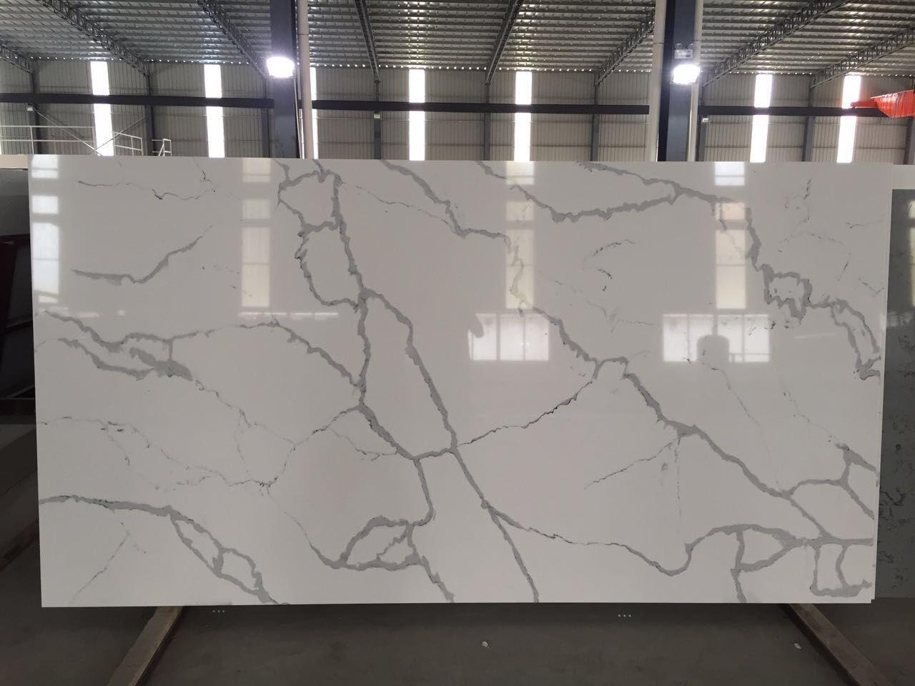 Calacatta white quartz surface