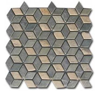 Natural flagstone mosaic design 3D wall tile