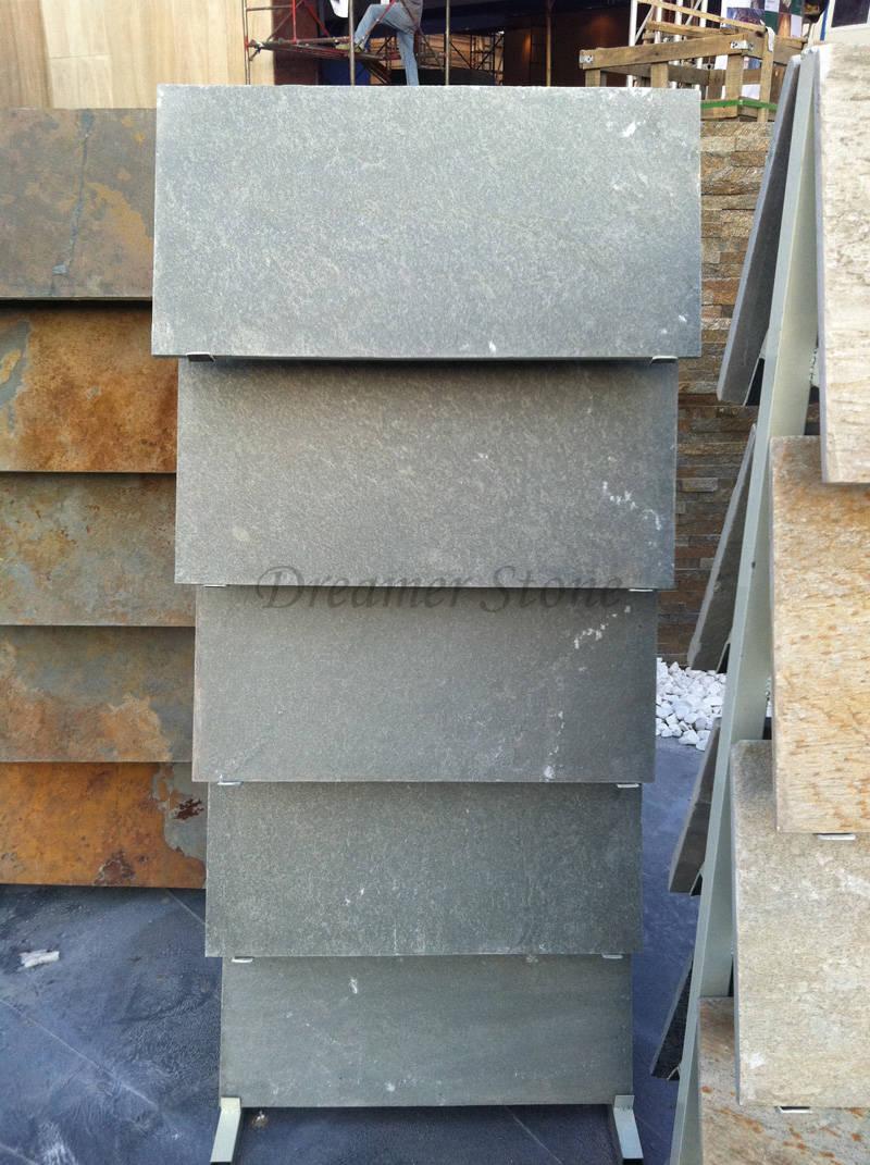 Custom grey slate flooring stone tile and wall tiles