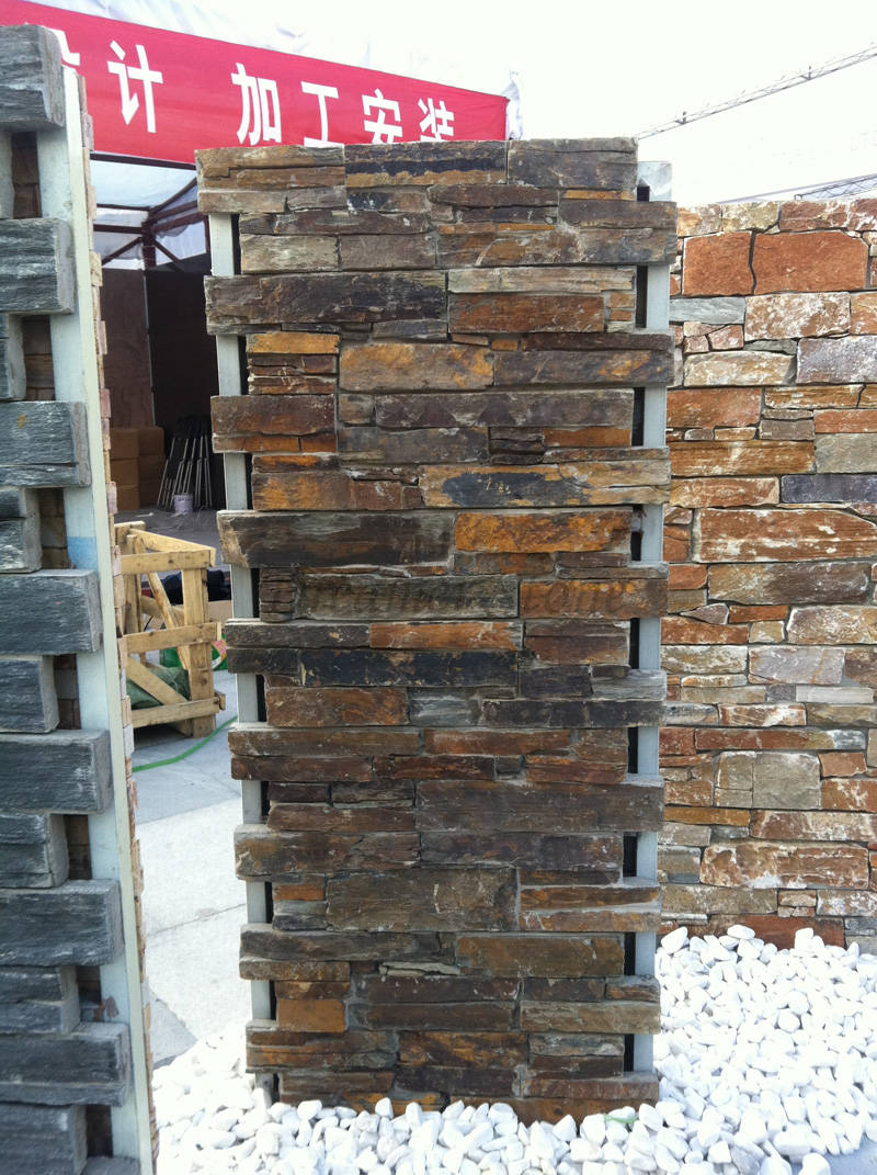 Rusty slate cement culture stone wall tiles