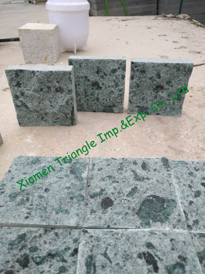 China Green Sukabumi Stone Granite Pool Edge Tiles
