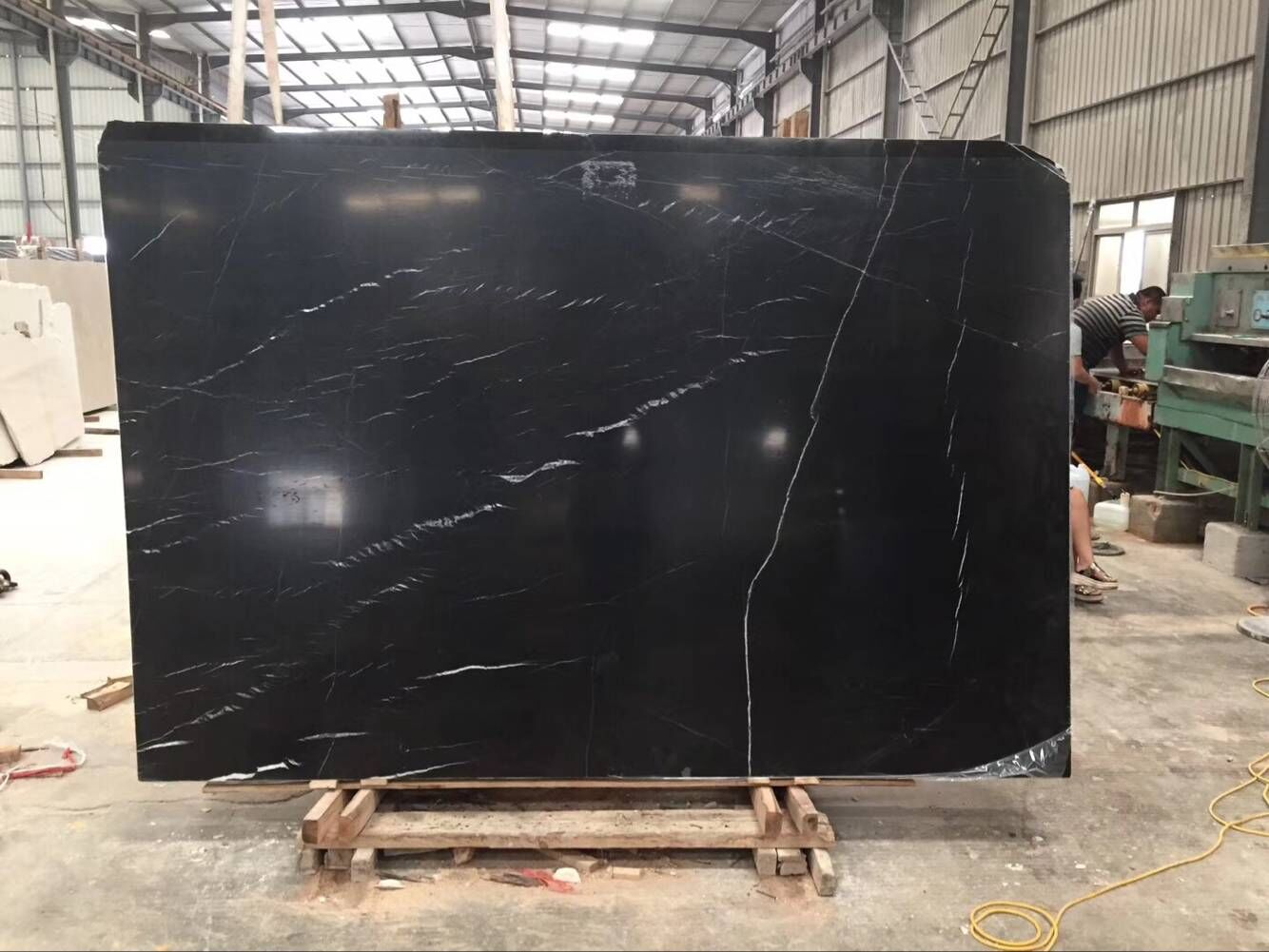 Nero Black  Nero Marquinia Marble Tiles & Slabs China Polished Tiles Black Marble Walling & Flooring