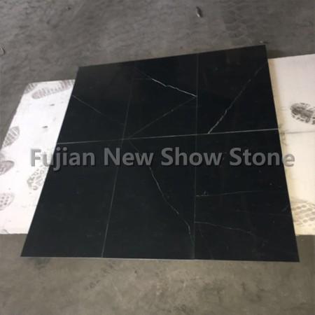 China shiny black marble