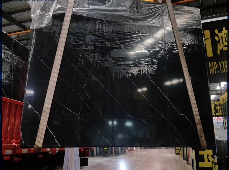 Polished Black Marquina Marble