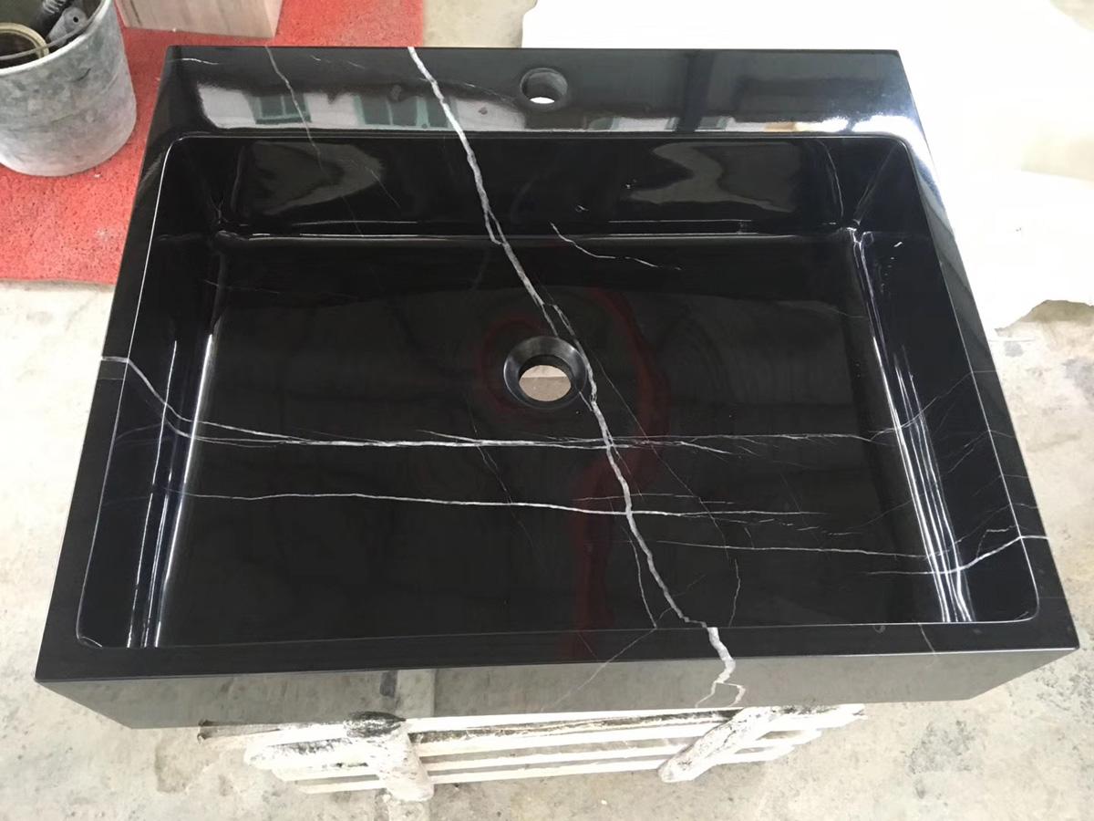 Nero Marquina Marble Black Stone Sinks