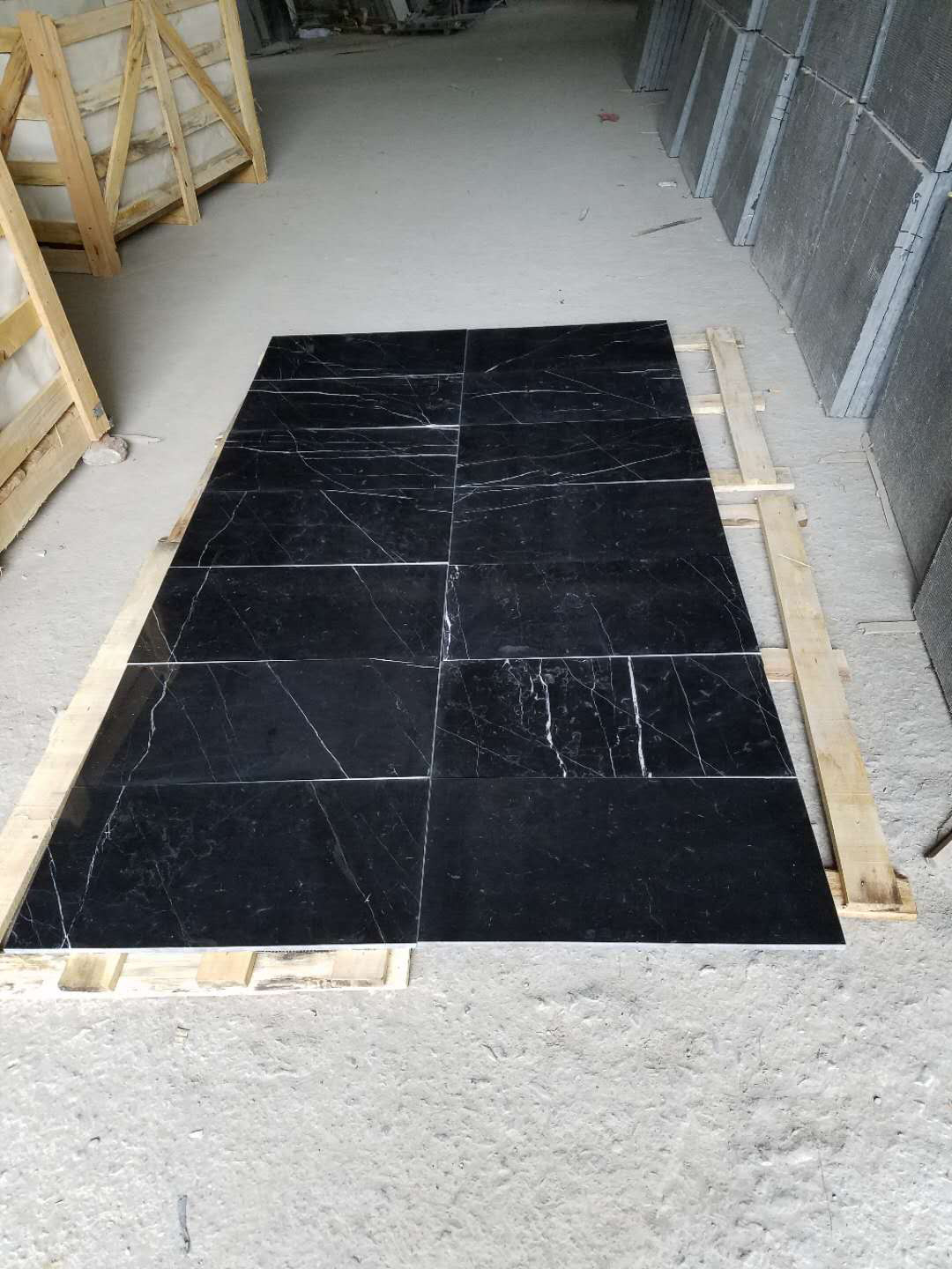 Nero Marquina Marble Floor and Wall Tiles