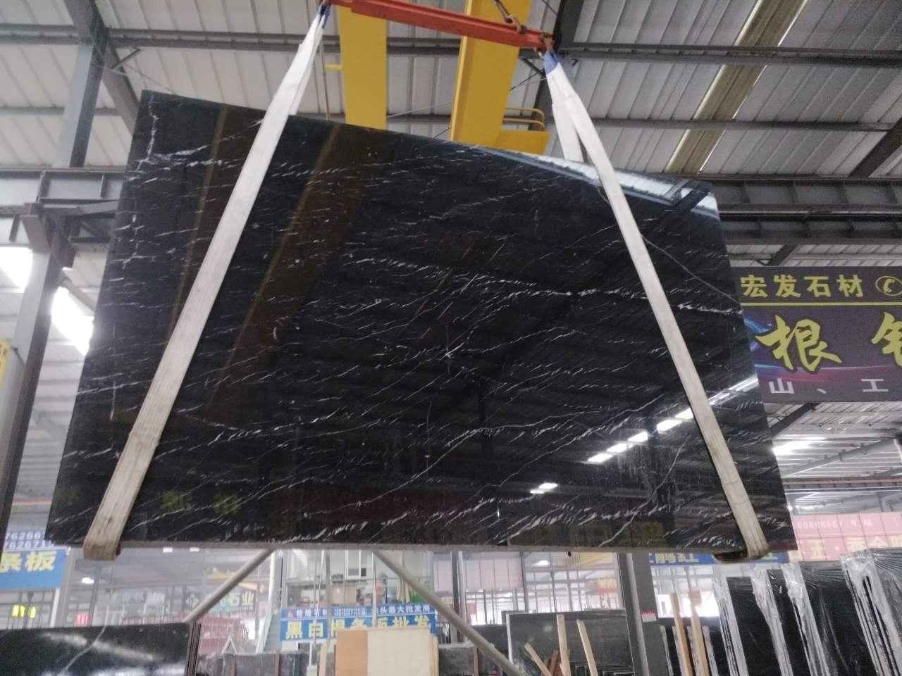 Black Marble Slab Polished Marble Slabs