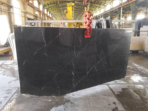 Nero Marquina Marble Polished Black Marble Slabs