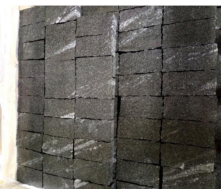 Chinese Nero Santiago Natural Grey Granite for Square Garden Pavement