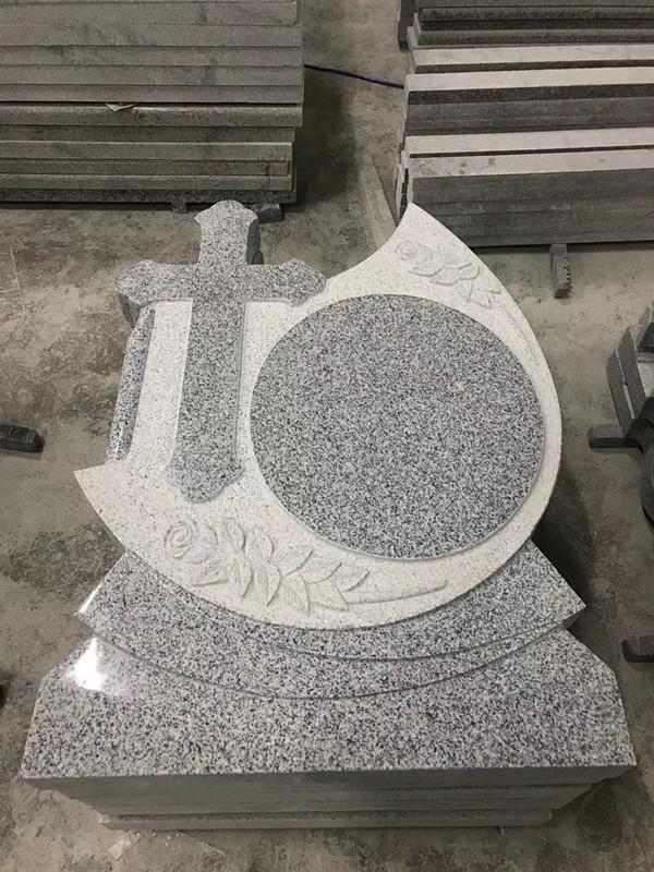 New grey granite G603 tombstone