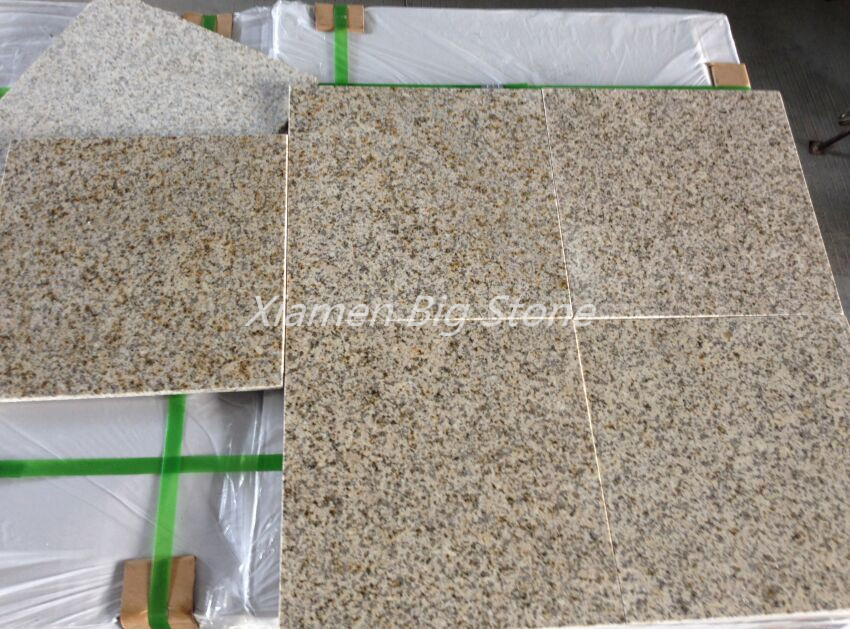 New G682 Rusty Yellow Granite Tiles