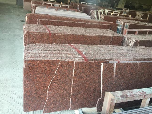 New Imperial Red Granite Slab