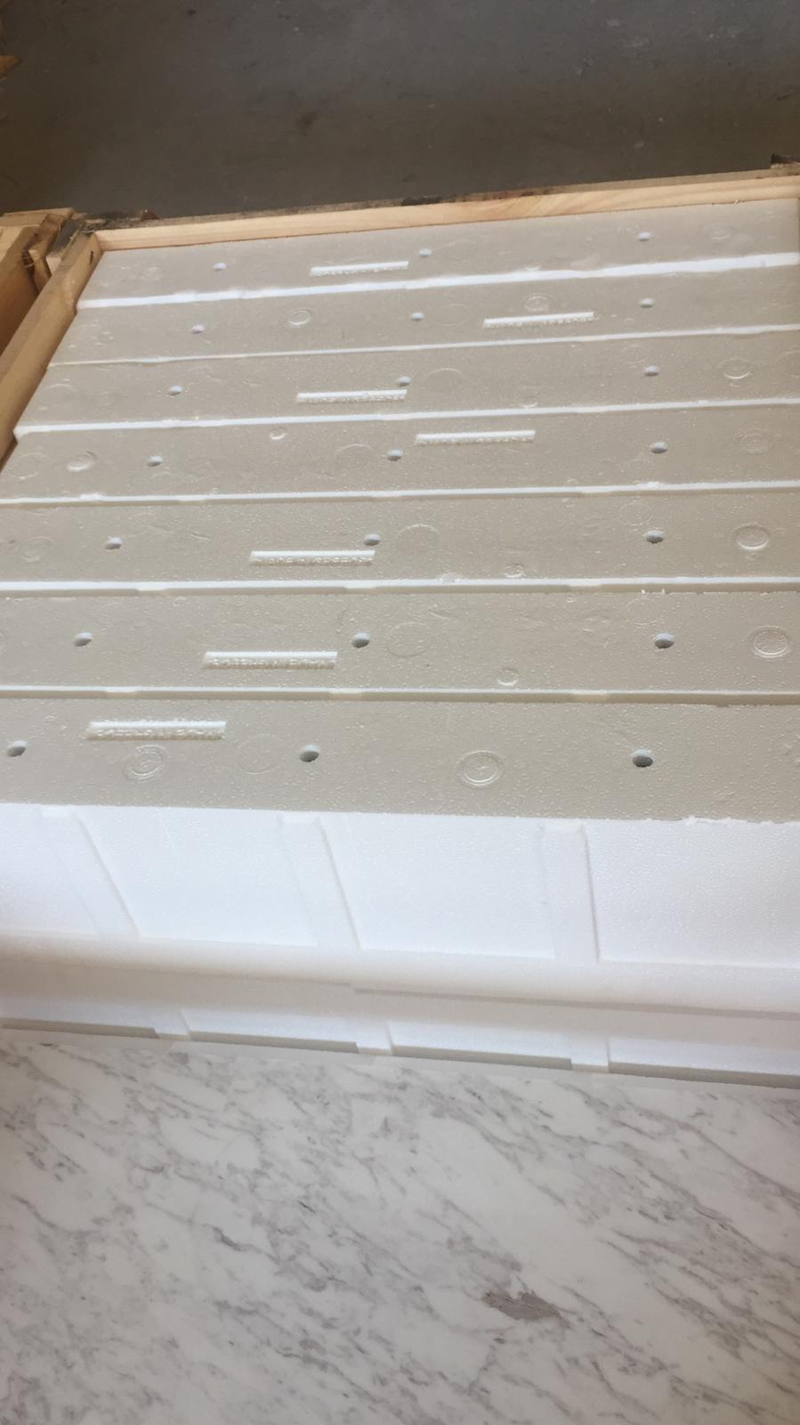 new LAC white marble tile