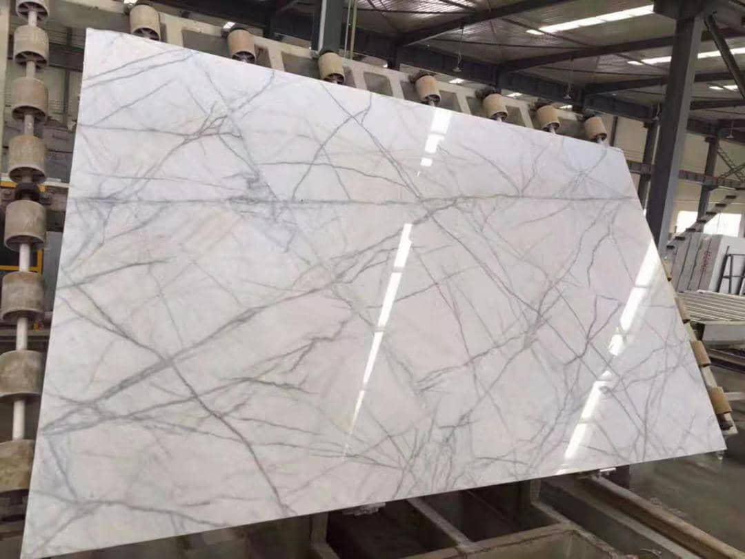 Neyriz Porcelain White Polished Marble Slabs