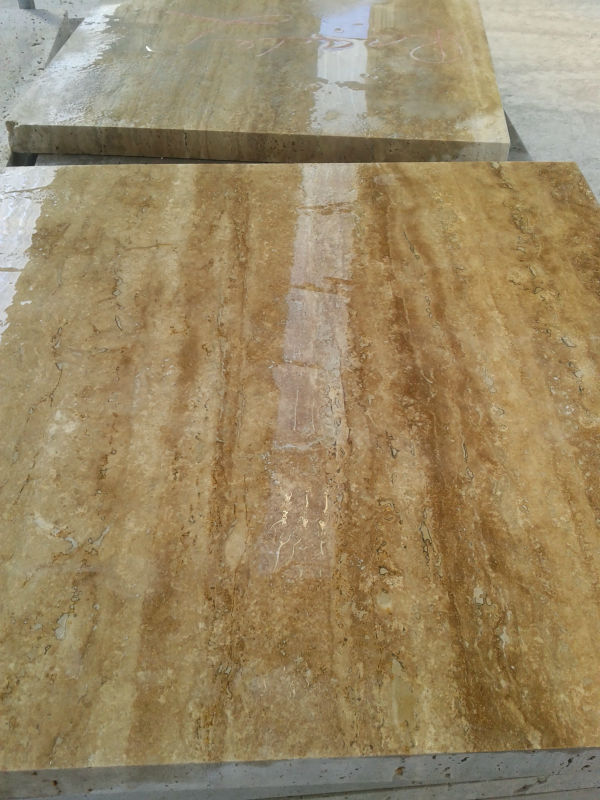Abyaneh Travertine Cream Travertine Vein Cut Tile