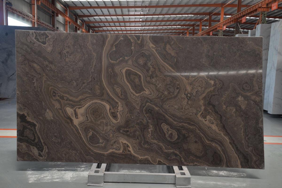 Obama Wood Italian Brown Serpeggiante Marble Slabs