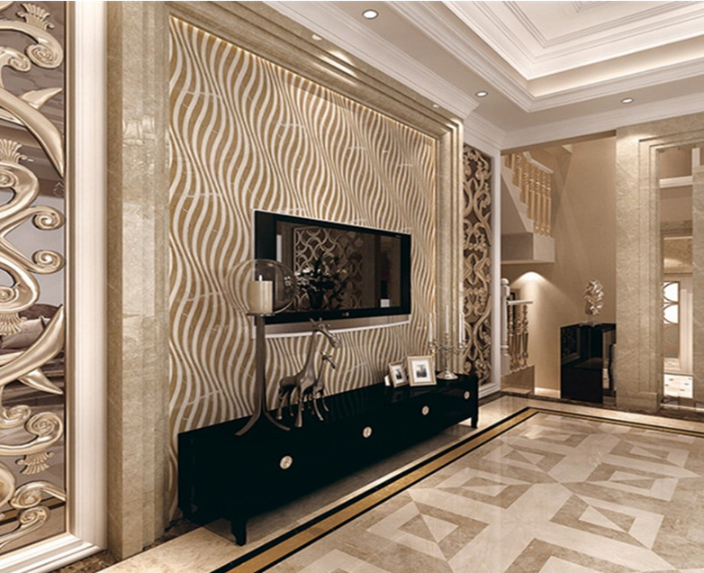 Oman Rose Home Marble Floor Design