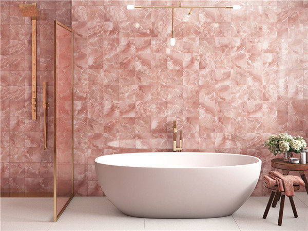 Pink Semi Precious Onyx Stones For Bathroom