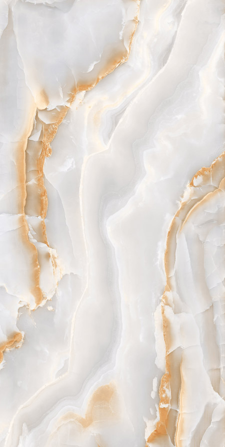 White and Orange Onyx
