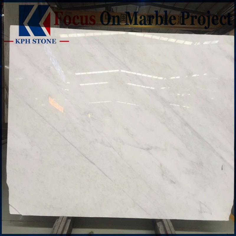 China Oriental White Carrara Marble Slab