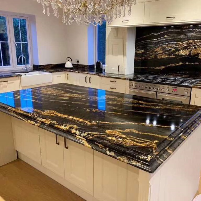 Nero Volcano Granite for Countertops Design