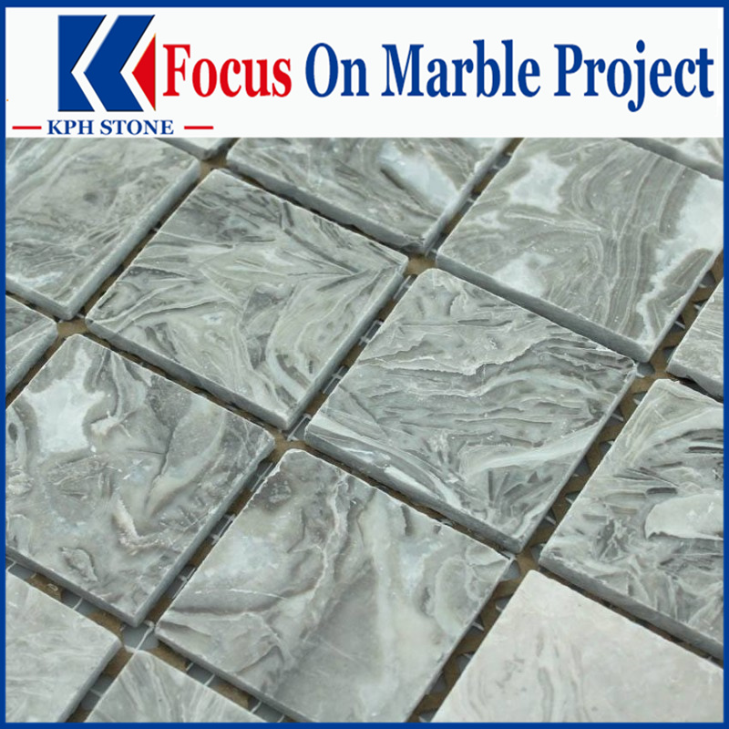 Bawang Flower Grey Marble Waterjet Tiles for The Parisian Macao
