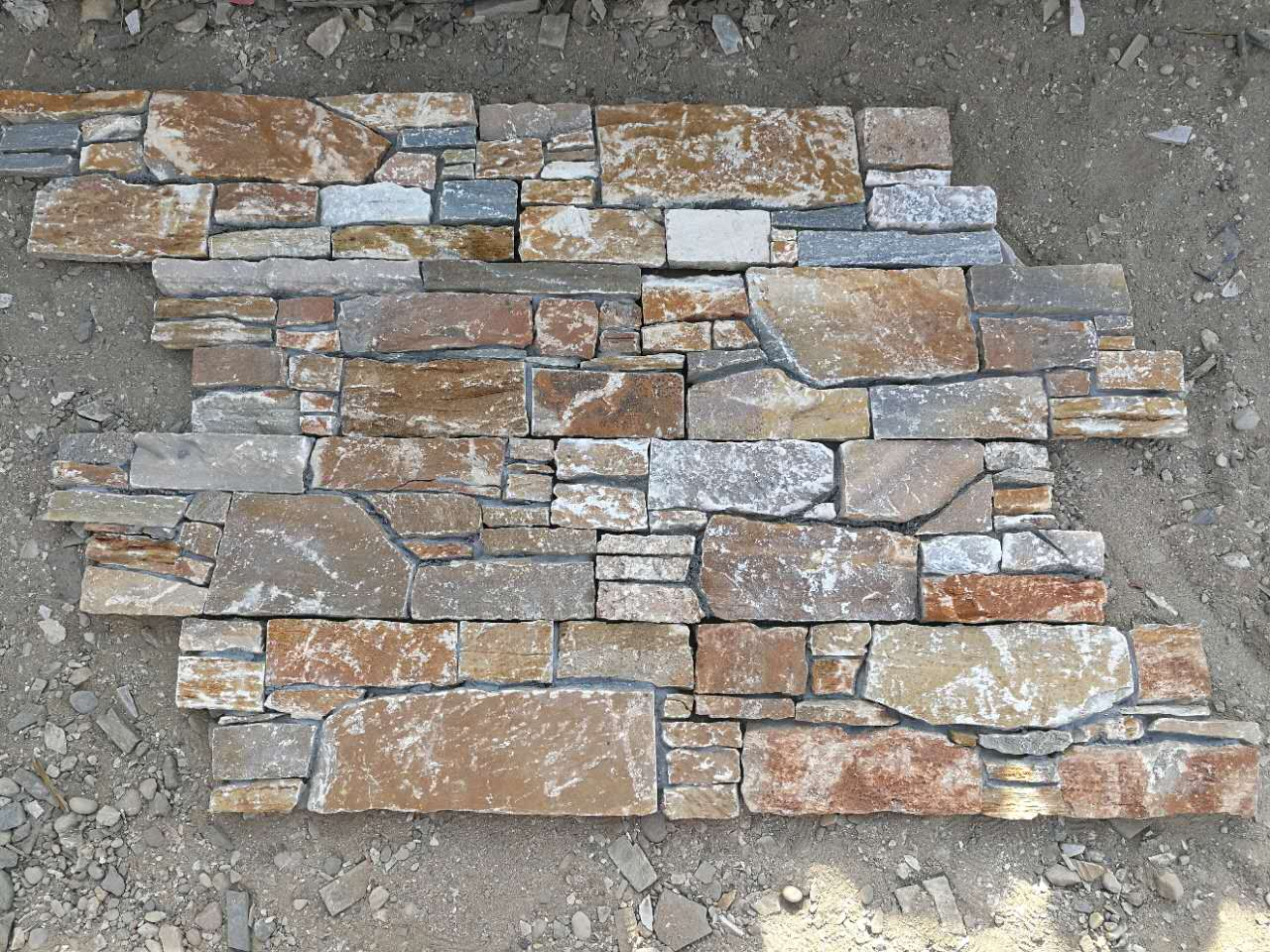 P014 Culture Stone Rusty Slate Brick Walling Tiles