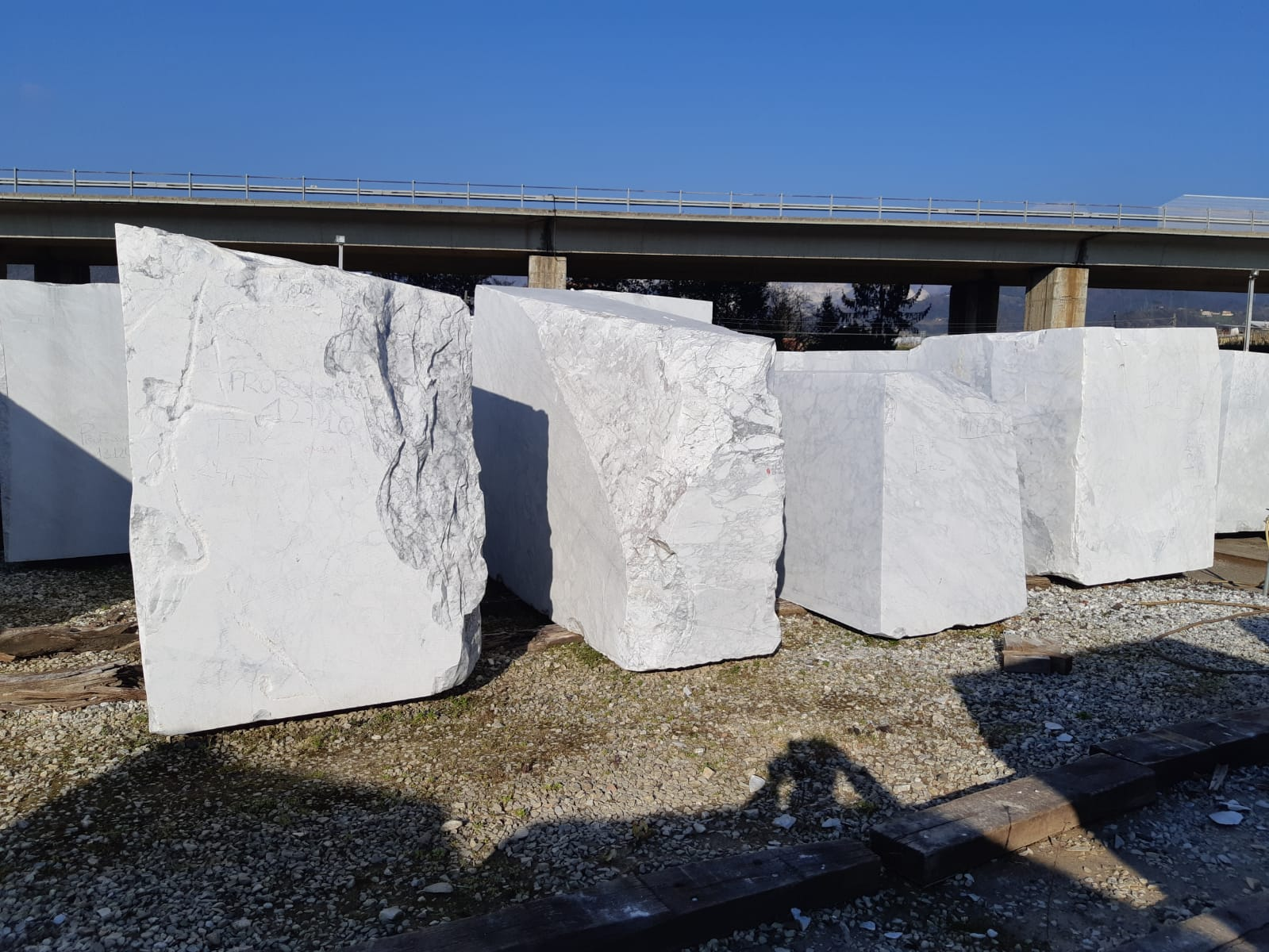 Bianco Carrara C CD Statuario Arabescato Calacatta Marble Blocks