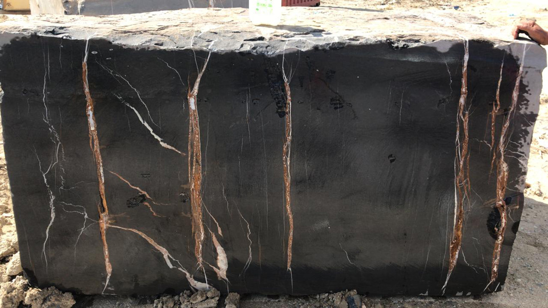 Black Aziza Marble Natural Stone Blocks