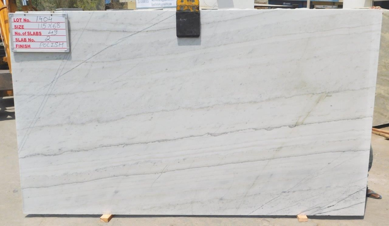 Polar White Marble Polished Indian Marble Slabs