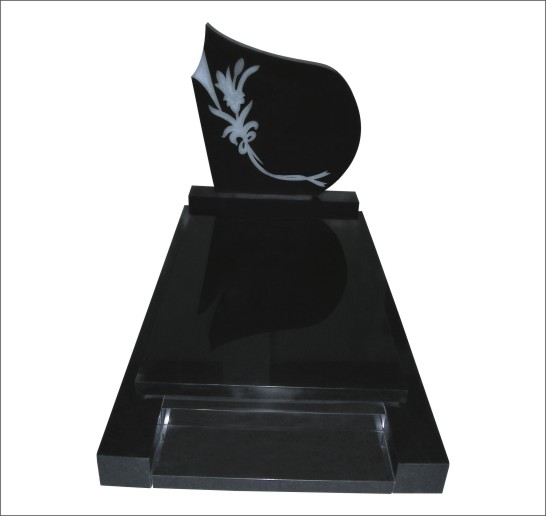 HIGHT POLISHED BLACK GRANITE FULL MONUMENT