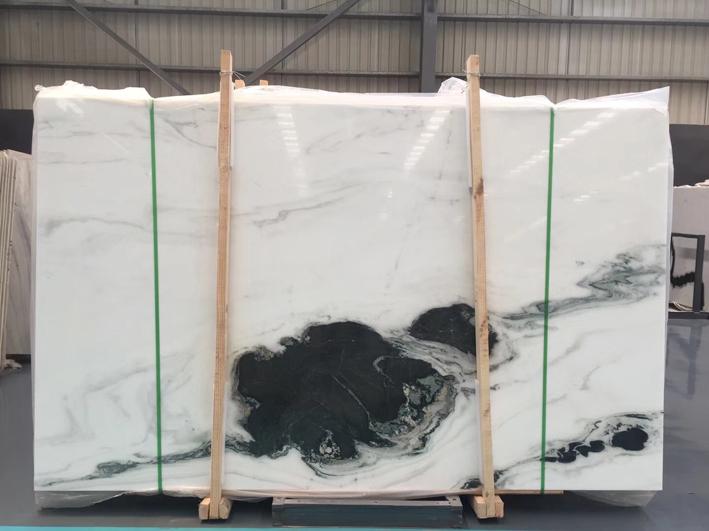 China Panda White Polished Marble Slab Flooring Tile Wall Covering