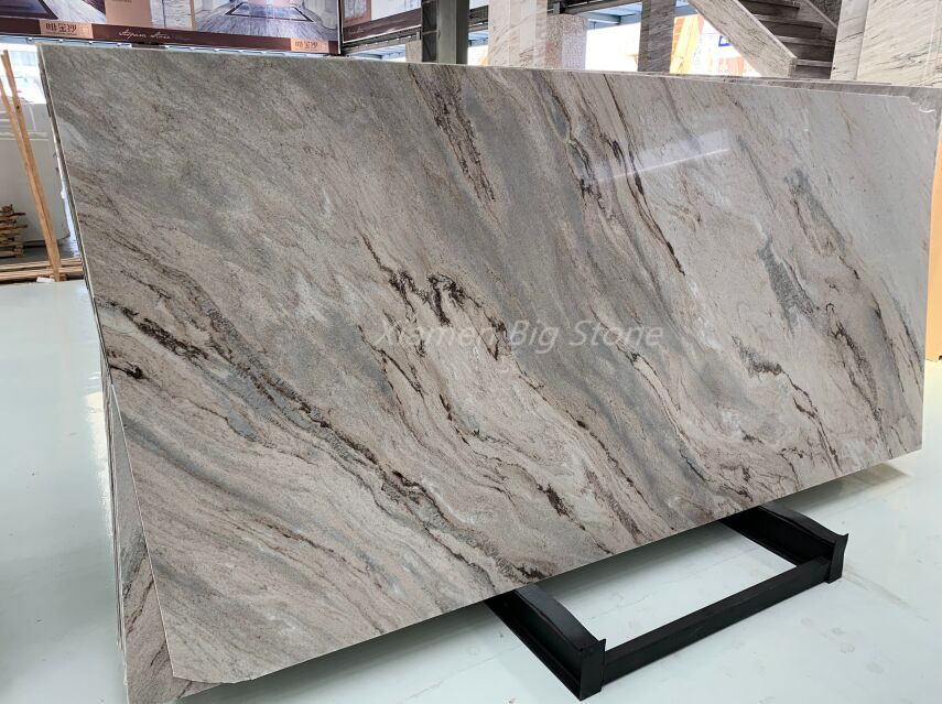 Polished Palissandro Brown Marble Slab
