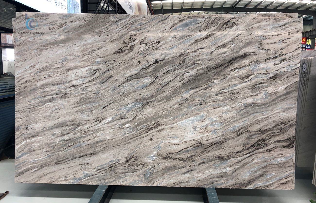 Palissandro brown bluette marble big slab
