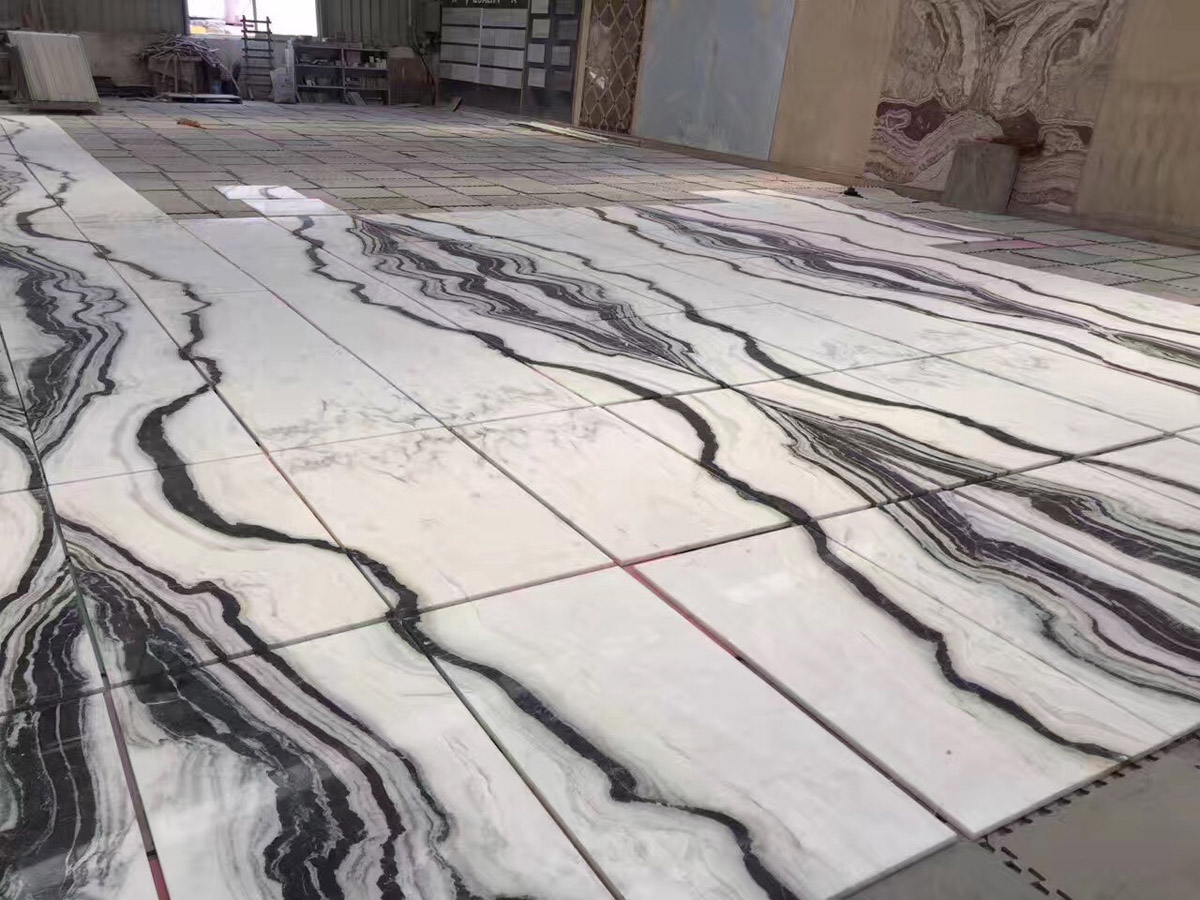 Panda White Marble Floor and Wall Tiles
