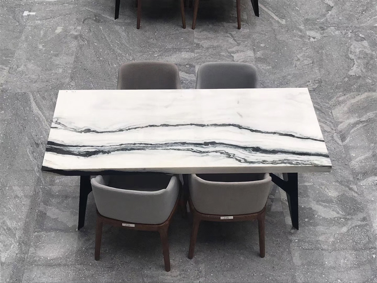 Panda White Marble Table Countertops