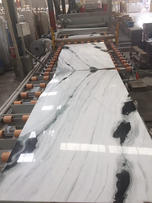 China Panda White bookmatch slabs Natural Stone