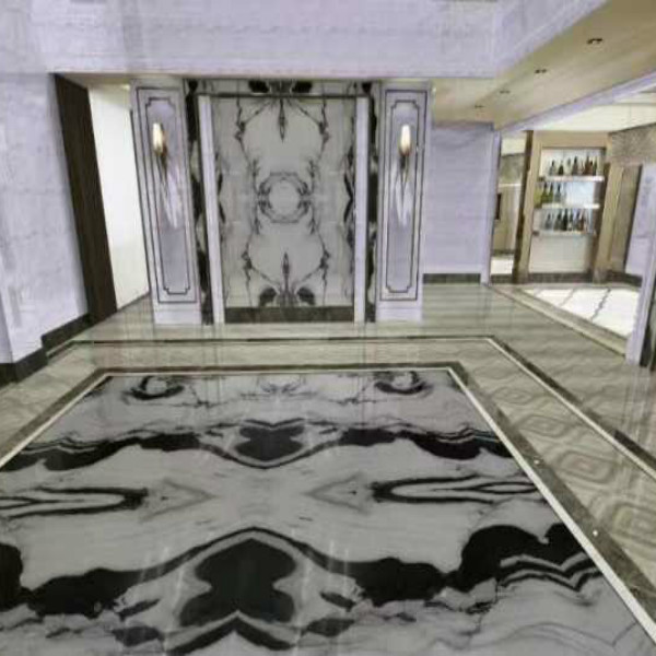 Panda White Marble Tile