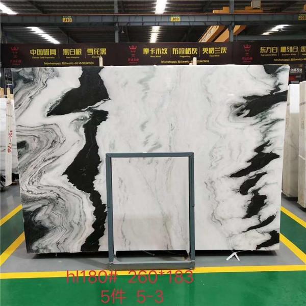 China Panda White Marble Stone Slab