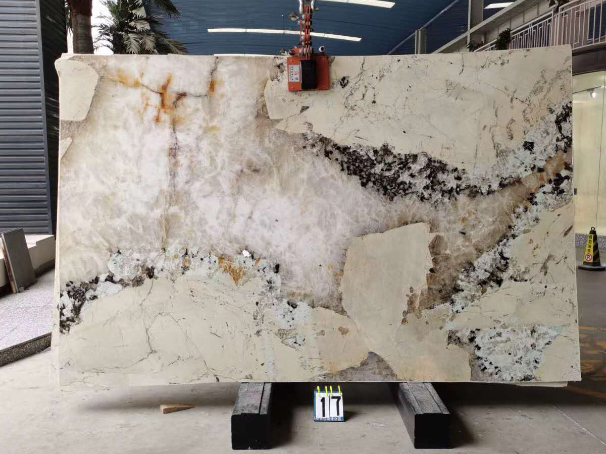Patagonia White Brazilian Polished Granite Slabs